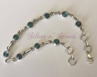 Sterling Silver Fluorite Bracelet