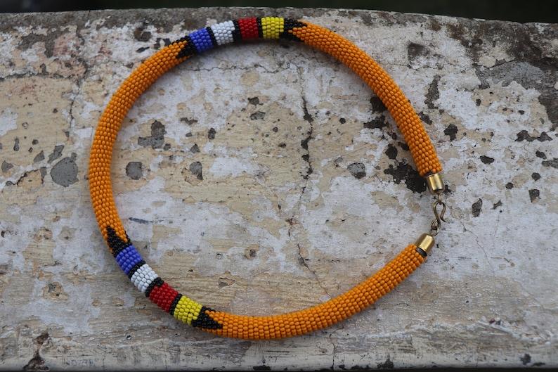Africa Yellow Bead Earring Africa Yellow Necklace and Earring Set ON SALE AFRICAN Yellow Earring Africa Yellow Necklace Set