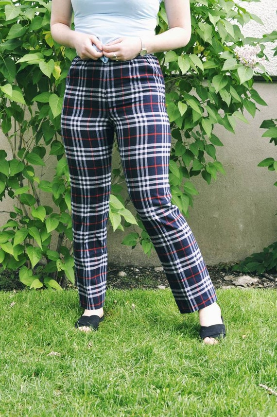 Burberry trousers, Burberry check pants, tartan t… - image 2