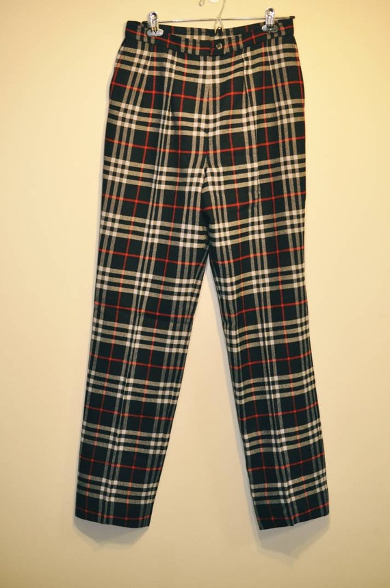 Burberry trousers, Burberry check pants, tartan t… - image 6