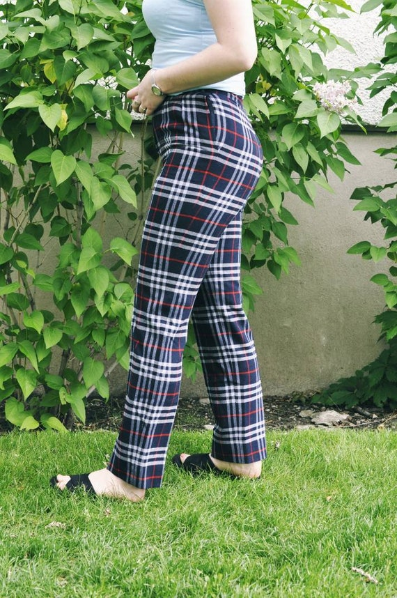Burberry trousers, Burberry check pants, tartan t… - image 5