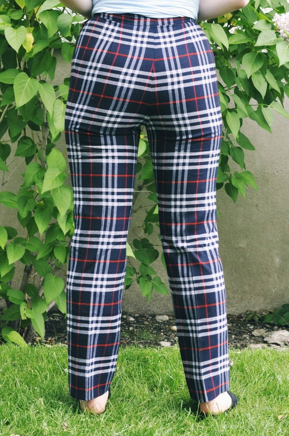 Burberry trousers, Burberry check pants, tartan t… - image 4