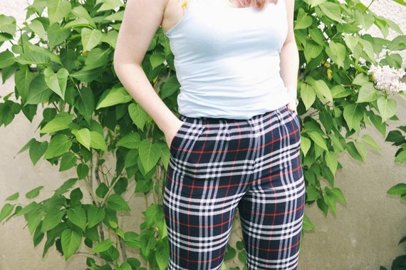 Burberry trousers, Burberry check pants, tartan t… - image 3