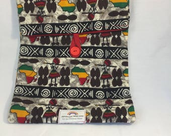 Padded Ipad sleeve- Traditional African Fabric