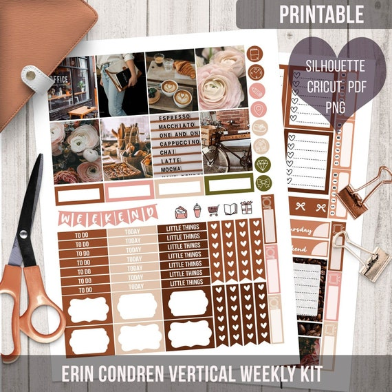 Coffee Shop Weekly Kit Printable May Ec Vertical Printable Etsy