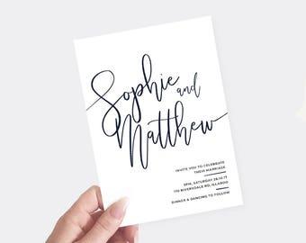 Modern Wedding Invitation | Printable Wedding Invitation | Minimalistic Design