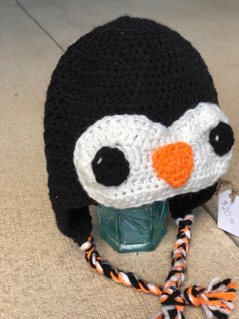Toddler hat  crochet hat  bird hat  penguin hat  owl hat