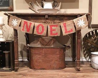 Farmhouse Christmas NOEL Banner