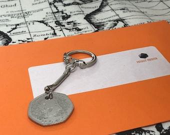 SHERLOCK HOLMES 50P Keyring Keychain Christmas Birthday Gift Secret Santa