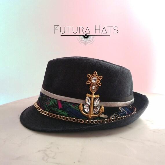723daa178f6 Club Hat Hipster style Fedora Rave Wear Custom Hat