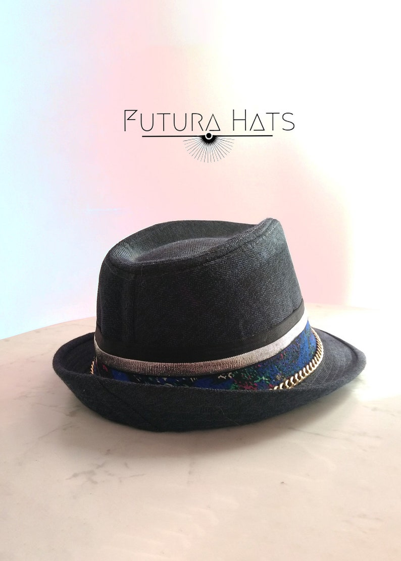 c562fded13b Club Hat Hipster style Fedora Rave Wear Custom Hat