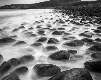 Moody Dunstanburgh Castle, Northumberland. Original Photograph available in various sizes
