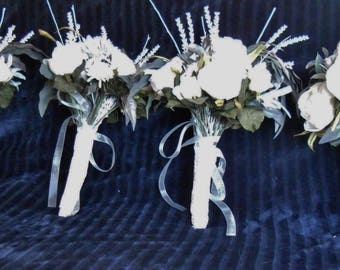 Wedding Bouquet Package, bouquet, bride, bridesmaid, immediate, Boho, wedding, flowers, boutonniere, flower basket, flower girl,