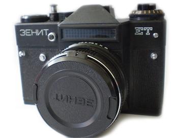 Zenit-ET Russian Vintage camera + Helios 44M-4 58mm F2 Lens IN BOX