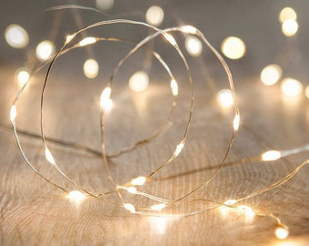 1M/2M/3M/5M/10M LED String light Silver Wire Fairy warm white Garden/ Home/Christmas/Wedding Party Decoration
