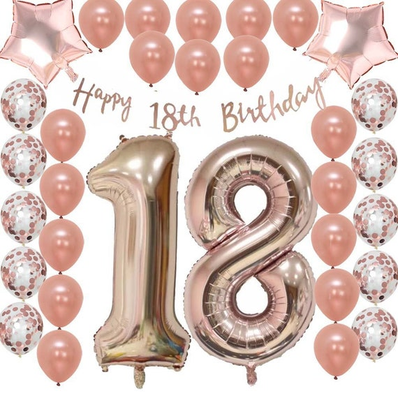 Ultimate 18th Rose Gold Eighteenth Birthday Pack 18 Garland