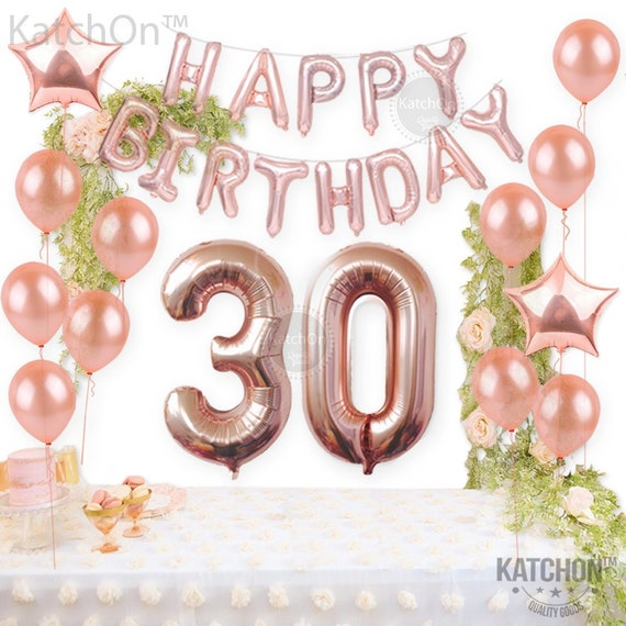 """DIRTY THIRTY 16/"""" Balloons Foil Rose Gold Letters Banner Garland Party Decor"""