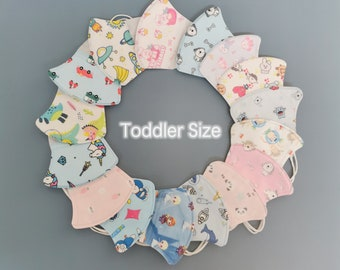 4x Toddler Face Masks Face Mask Cover Reusable Mask for Toddlers Aged 2-5