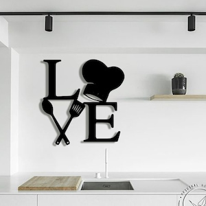 Rock N Roll Metal Wall Art Kitchen Wall Signs Metal Letters Etsy