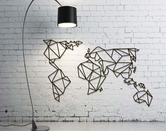 Metal world map etsy gumiabroncs Image collections