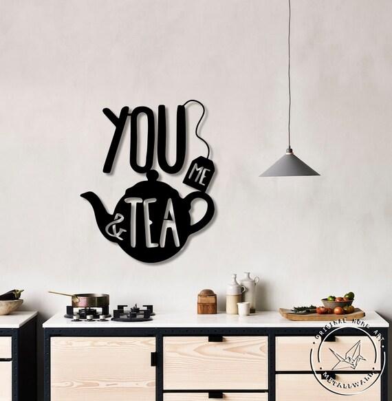 You Me Tea Metal Wall Art Kitchen Signs Etsy