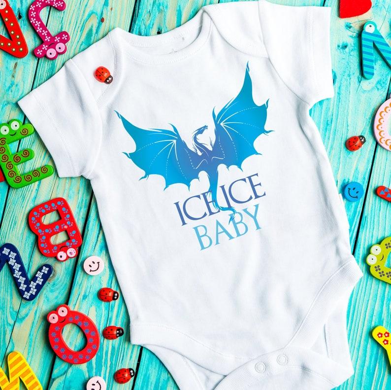 Ice dragon baby bodysuit BirthPregnancy announcement Trendy onesie Expecting baby Game of thrones bodysuit ShowerPregnancy gift