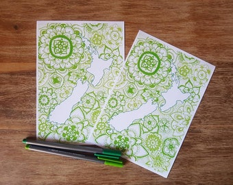 New Zealand mandala drawing