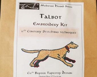 Medieval Hound Series:  Embroidery Kit (Talbot)