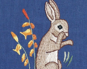 Medieval Rabbit Kit - Medieval Embroidery Kit