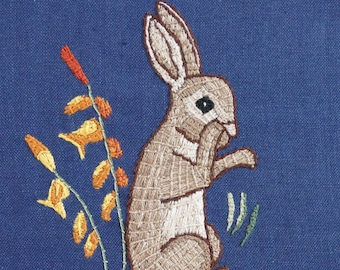 Medieval Rabbit PDF - Embroidery Pattern and Instructions