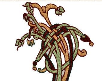Medieval Knotted Tree Pattern and Instructions - Instant Download PDF