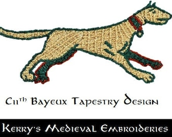 Medieval Embroidery Pattern and Instructions - Talbot - Instant Download PDF