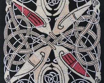 Medieval Celtic Embroidery Kit - The Book of St Chad
