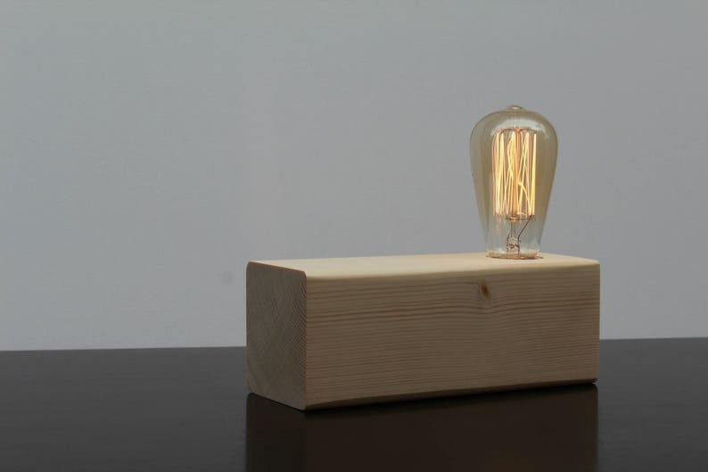 Remarkable Classic Rectangular Edison Table Lamp Pine Wood Night Lamp Industrial Lamp Wooden Lamp Handmade Loft Natural Light Bed Lighting Download Free Architecture Designs Pushbritishbridgeorg