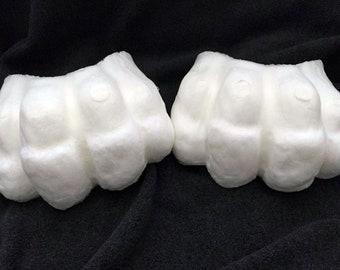 Semi-realistic foam fursuit toes
