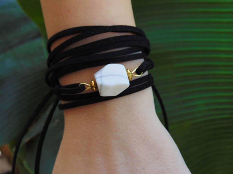 Boho wrap bracelet Bracelets Wrap Cuff bracelet Boho bracelet Boho wrap Bracelet Gemstone bracelet Bohemian bracelet Wrap bracelet