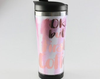 "Coffee to go, Coffee-to-go , Coffee To go Cup, Travel Coffee Cup, Coffee Mug, To Go cup, Coffee Mug ""Deluxe"""