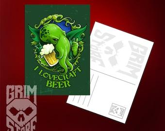 Postcard I Lovecraft Beer