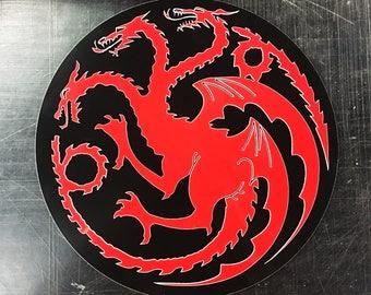 Game of Thrones House Targaryen three headed Dragon Sigil Metal Sign
