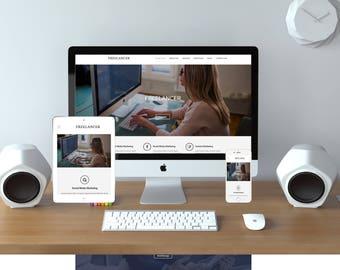 FlexTheme Freelancer WordPress Theme - Responsive Freelancer & Portfolio Template