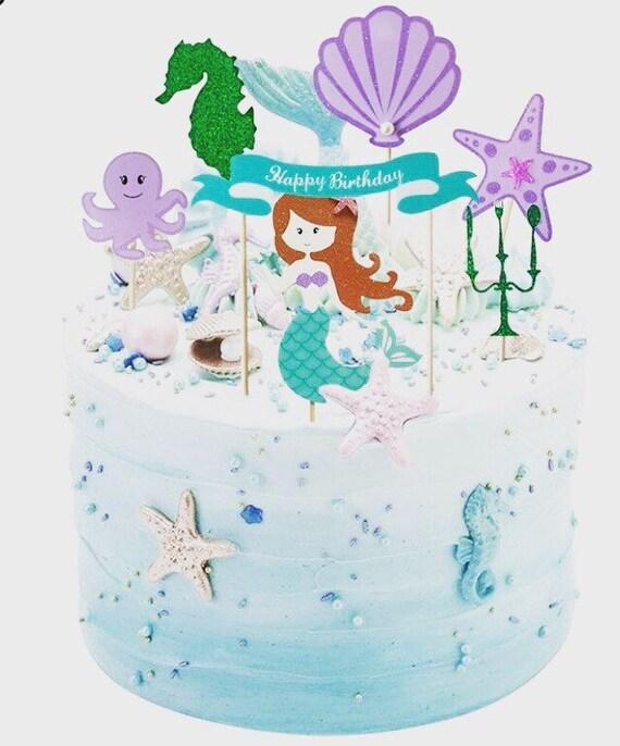 Terrific Home Furniture Diy Cake Toppers Starfish Mermaid Happy Birthday Personalised Birthday Cards Akebfashionlily Jamesorg