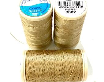 Nylbond extra strong beading thread orange 7341 60mt Coats