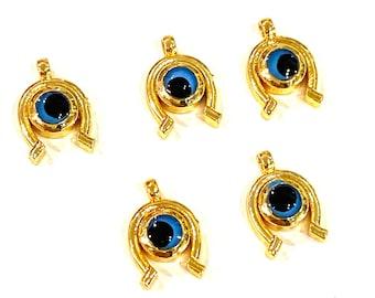 25 Pcs Tibetan Silver Lucky Dainty Horse Shoe Charms 12mm Jewellery Beading F60