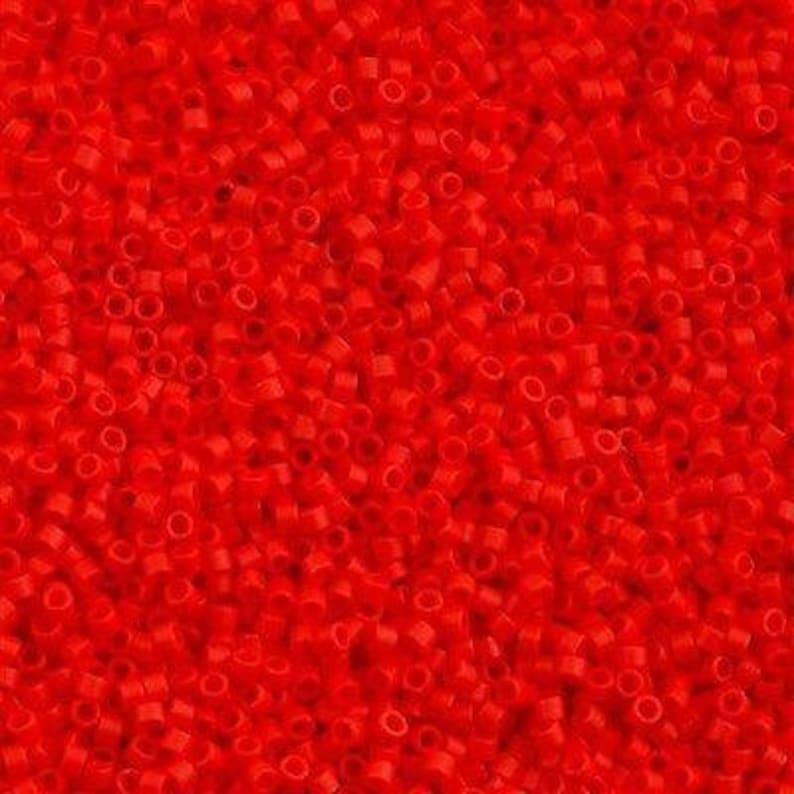 Miyuki Delica 110 DB0757 Miyuki Delica Beads,5 Gr Pack Opaque Lt.Siam Matted