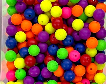 10mm Acrylic Beads, Assorted Acrylic Beads, 50 Gr Pack-Approx 100 Beads
