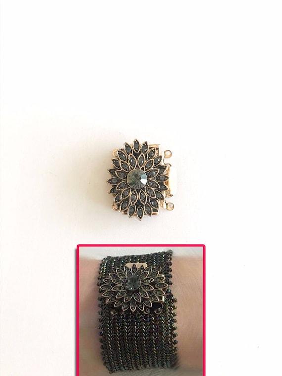 12 Stränge Bronzefarben Karabinerverschluss Halskette