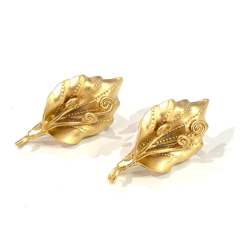 24Kt Matte Gold Plated Brass Calla Lily Stud Earrings 2 pcs in a pack,