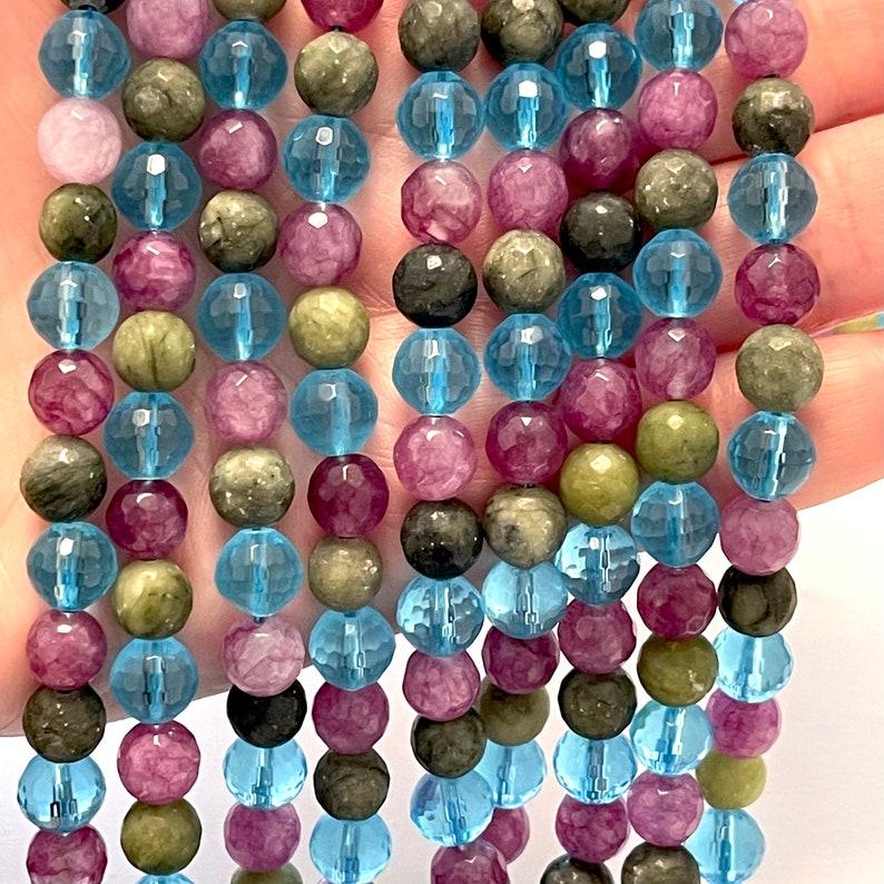 Mixed Round 8mm Jade Quartz Strands 46 Beads