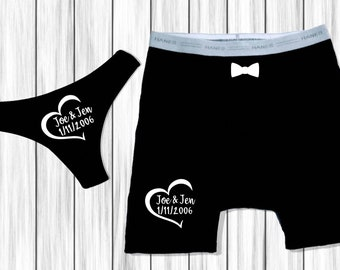 Couples Underwear Etsy