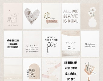 POSTCARDS INDIVIDUAL MIX / Cards Set for Birthday, Christmas, Holidays, Moving, School Start, Wedding and More